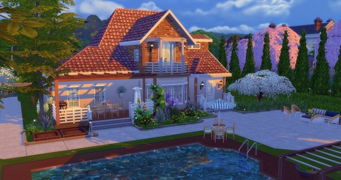 Ancolie house by Angerouge at Studio Sims Creation image 228 670x355 Sims 4 Updates