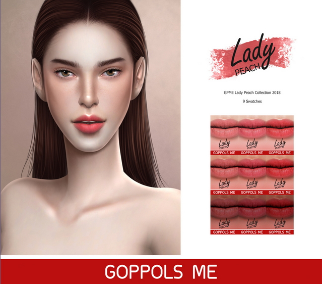Sims 4 Lipstick Peach Collection 2018 (P) at GOPPOLS Me