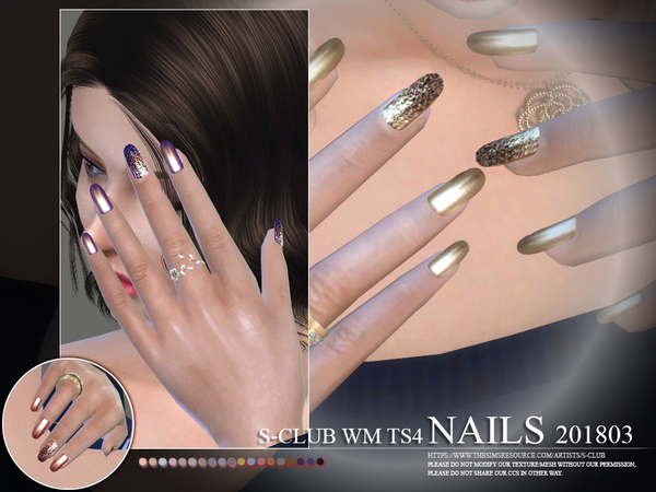 Nails 201803 by S Club WM at TSR image 2315 Sims 4 Updates