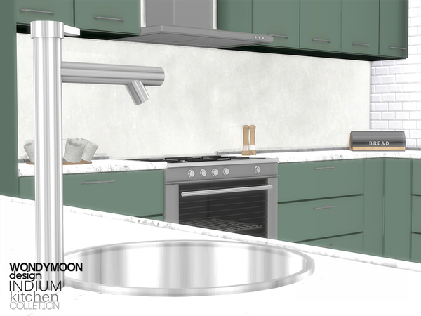 Indium Kitchen by wondymoon at TSR image 2324 Sims 4 Updates