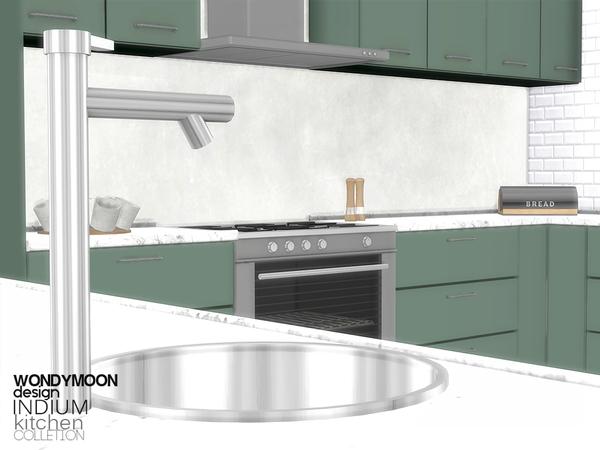 Indium Kitchen by wondymoon at TSR image 2324 Sims 4 Updates