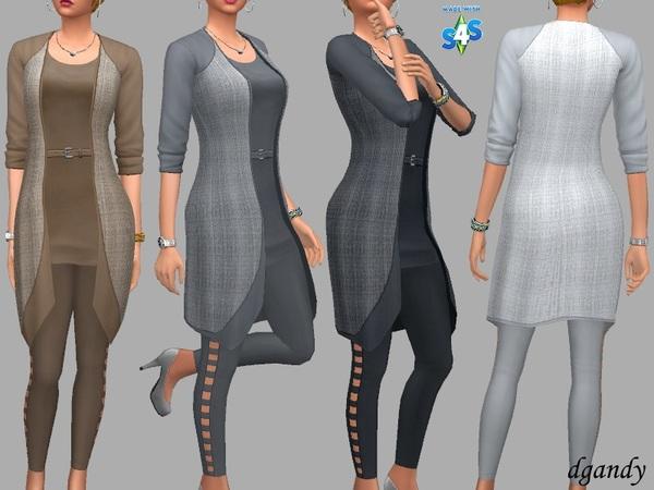 Sims 4 Hannah Jacket and Leggings by dgandy at TSR