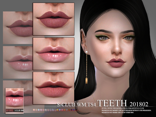 Teeth 201802 by S Club WM at TSR image 2326 Sims 4 Updates