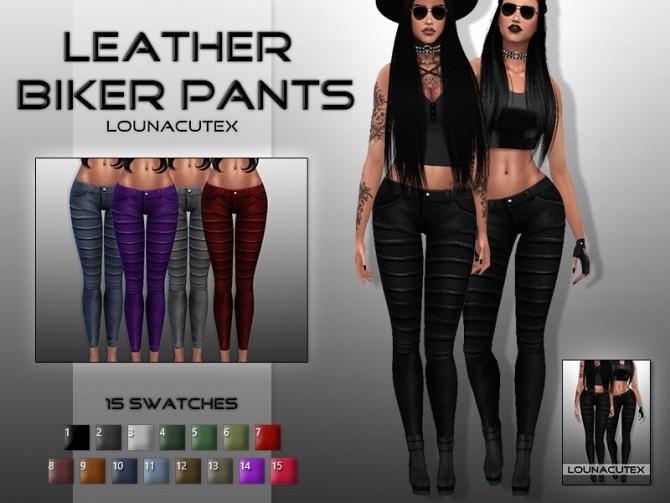 Sims 4 Leather Biker Pants at Lounacutex