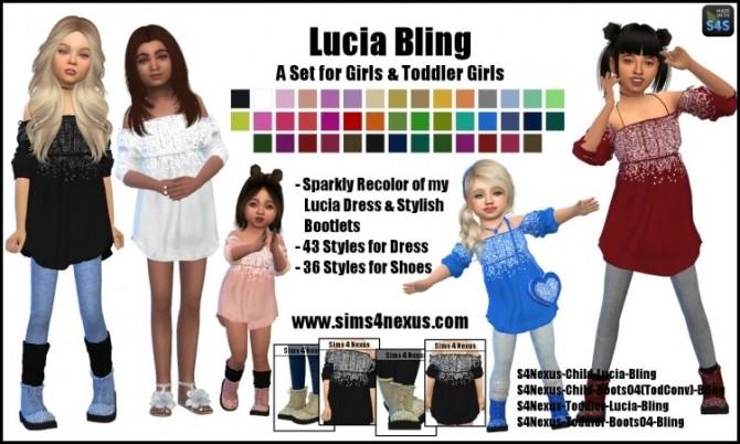 Sims 4 Lucia Bling set by SamanthaGump at Sims 4 Nexus