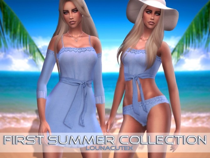 Sims 4 First Summer Collection at Lounacutex