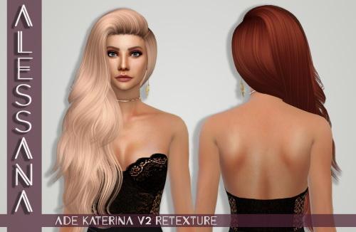 Sims 4 Ade Katerina V2 Hair Retexture at Alessana Sims