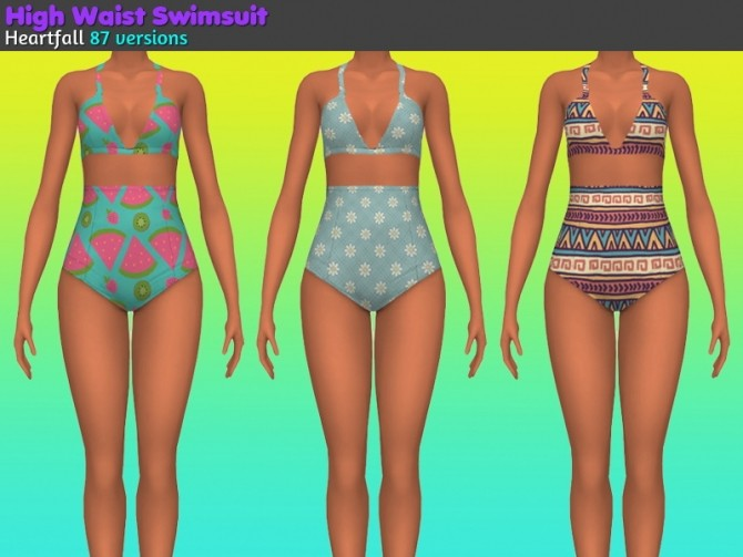 High waist swimsuit at Heartfall image 2422 670x503 Sims 4 Updates