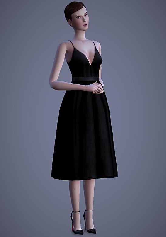 Sims 4 Valentina Dress at Magnolian Farewell