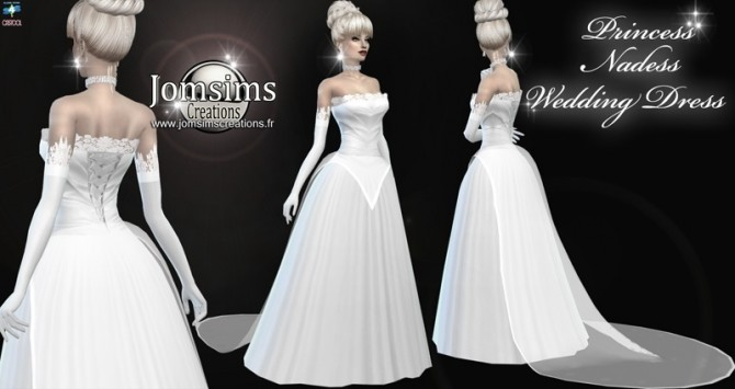 Princess nadess wedding dress at Jomsims Creations image 2562 670x355 Sims 4 Updates