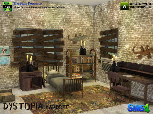 Dystopia bedroom by kardofe at TSR image 2616 Sims 4 Updates