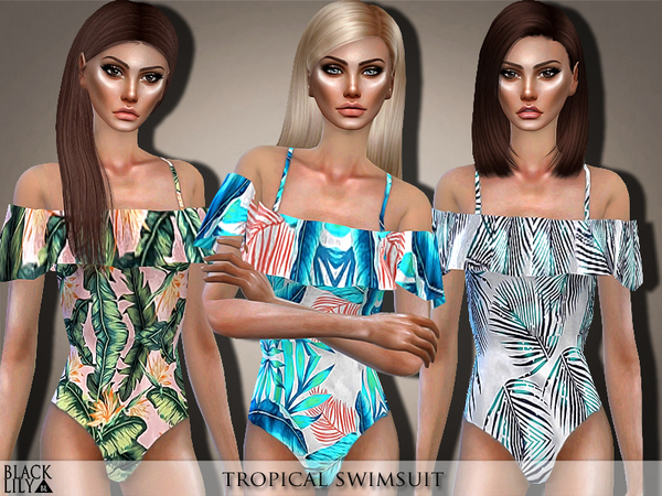 Tropical Swimsuit by Black Lily at TSR image 2630 Sims 4 Updates