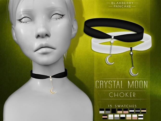 Sims 4 Crystal moon choker at Blahberry Pancake