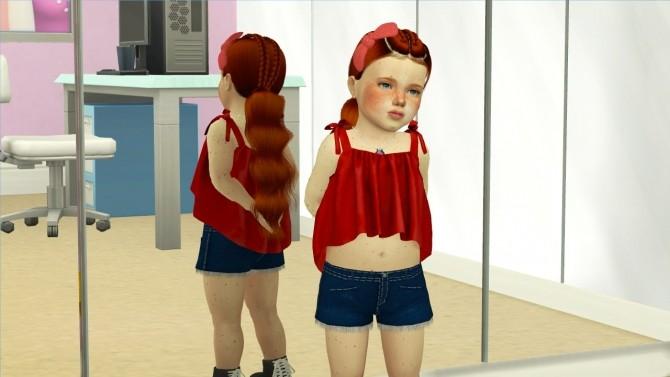 Sims 4 LEAH LILLITH NAKIA HAIR KIDS AND TODDLER VERSION at REDHEADSIMS