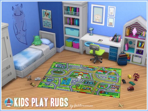 Sims 4 Kids Play Rugs by Waterwoman at Akisima