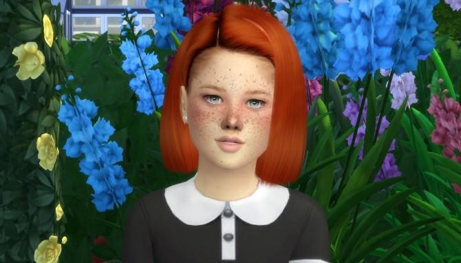 Sims 4 LEAH LILLITH FARAH HAIR KIDS AND TODDLER VERSION at REDHEADSIMS