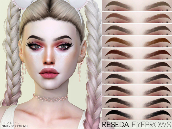 Reseda Eyebrows N129 by Pralinesims at TSR image 27 Sims 4 Updates