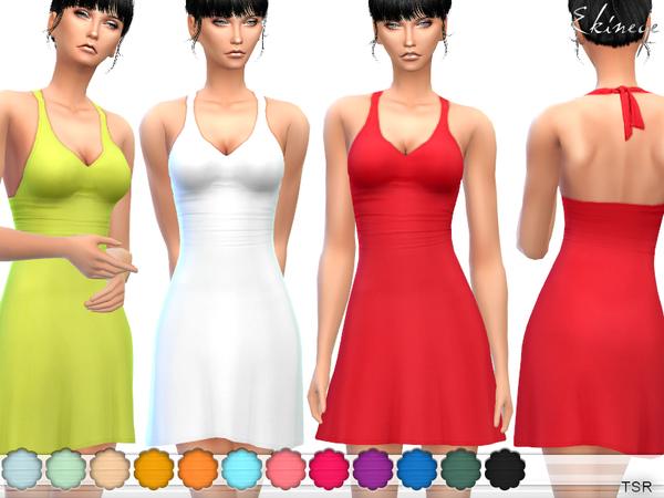 Sims 4 Halter Dress by ekinege at TSR