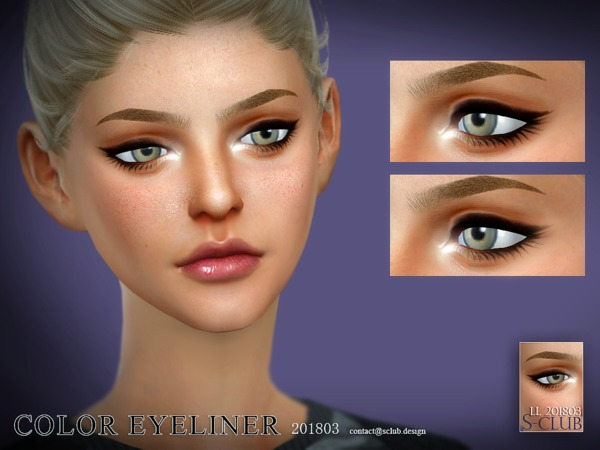 Eyeliner 201803 by S Club LL at TSR image 28 Sims 4 Updates