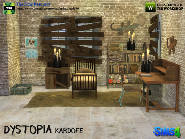 Dystopia bedroom by kardofe at TSR image 2815 Sims 4 Updates