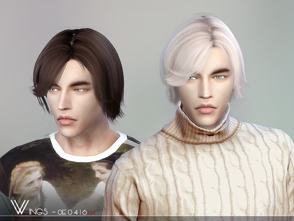 Hair OE0416 M by wingssims at TSR image 2816 Sims 4 Updates