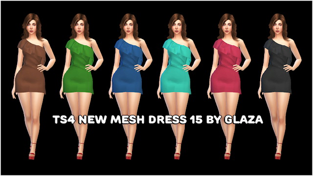 Sims 4 Dress 15 at All by Glaza