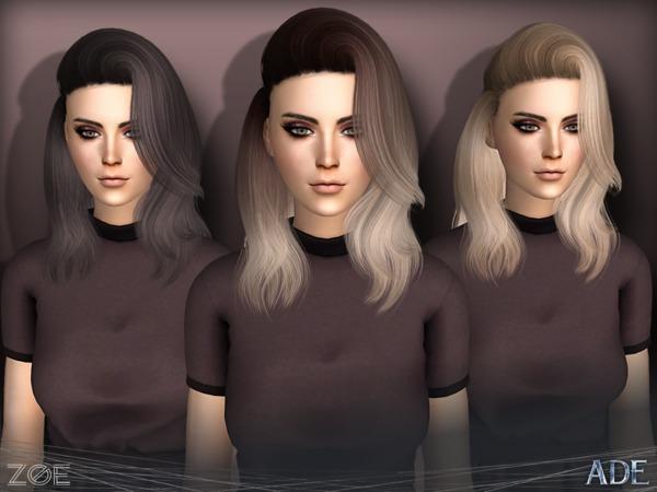 Sims 4 Zoe hair by Ade Darma at TSR