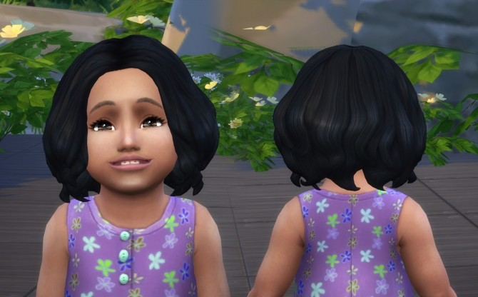 Sims 4 Confident Curls for Toddlers at My Stuff