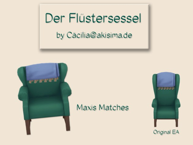 Sims 4 Armchair by Cäcilia at Akisima