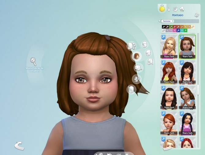 Sims 4 Melanie Hairstyle V2 for Toddlers at My Stuff