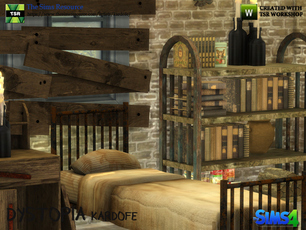 Dystopia bedroom by kardofe at TSR image 2915 Sims 4 Updates
