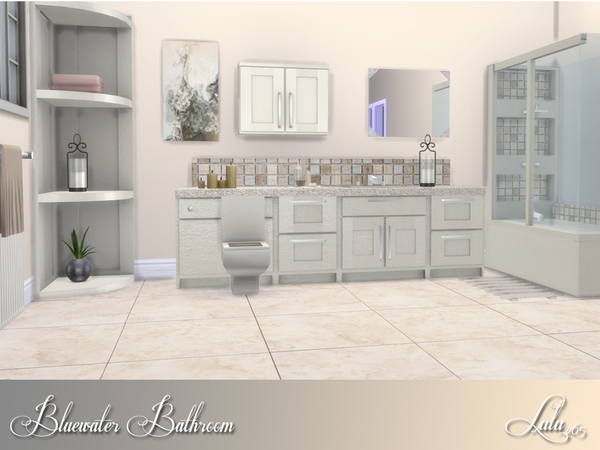 Bluewater Bathroom by Lulu265 at TSR image 2917 Sims 4 Updates