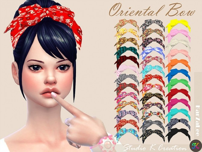 Oriental head bow at Studio K Creation image 299 670x502 Sims 4 Updates