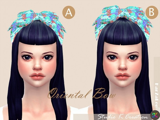 Oriental head bow at Studio K Creation image 300 670x502 Sims 4 Updates