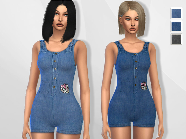 Cute Denim Romper by Puresim at TSR image 3010 Sims 4 Updates