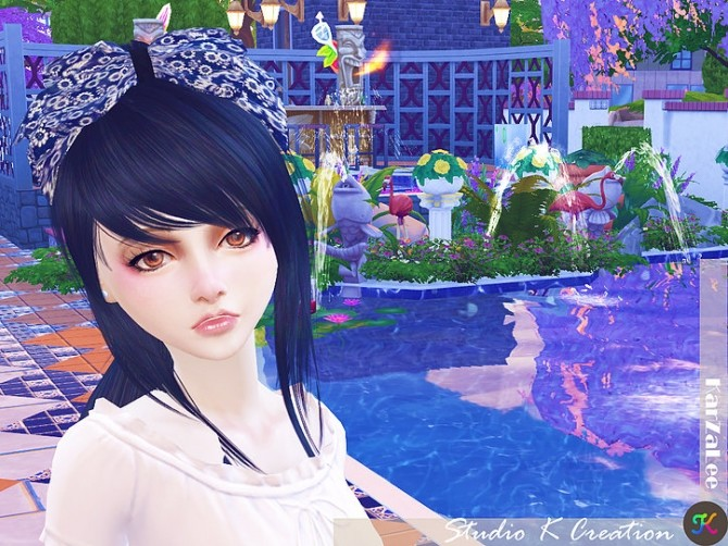 Sims 4 Oriental head bow at Studio K Creation