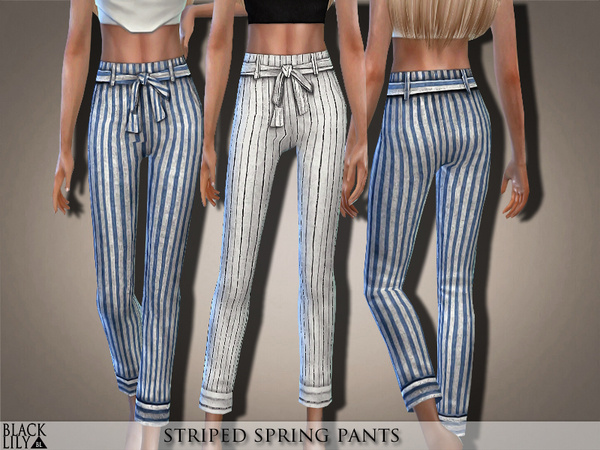 Striped Spring Pants By Black Lily At Tsr 187 Sims 4 Updates
