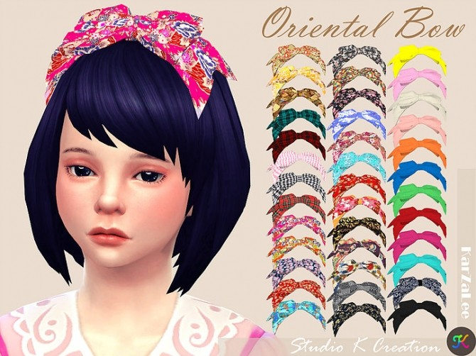 Oriental head bow child at Studio K Creation image 3021 670x502 Sims 4 Updates