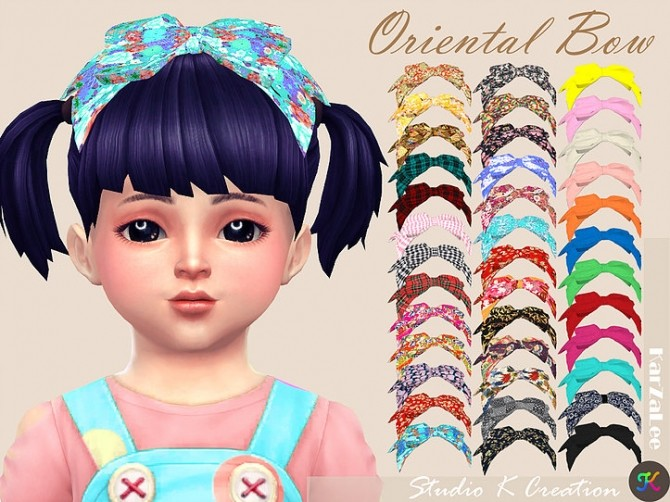 Oriental head bow toddler at Studio K Creation image 305 670x502 Sims 4 Updates