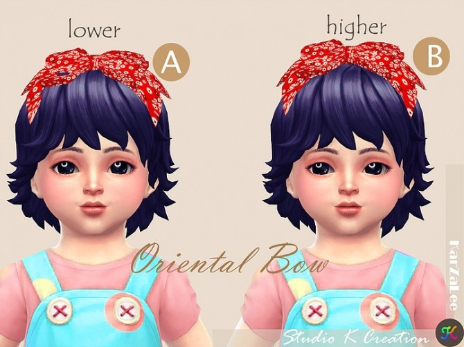 Oriental head bow toddler at Studio K Creation image 306 670x502 Sims 4 Updates