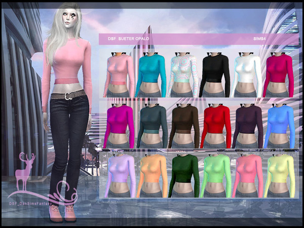 Sims 4 DSF SWEATER OPALO by DanSimsFantasy at TSR