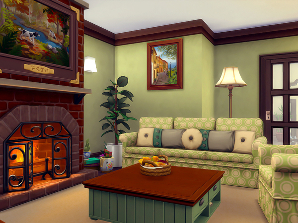 Sims 4 Wood Cottage Nocc by sharon337 at TSR