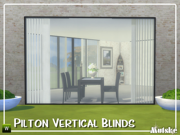 Sims 4 Pilton Vertical Blinds by mutske at TSR