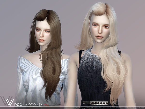 Hair OE0414 by wingssims at TSR image 3115 Sims 4 Updates