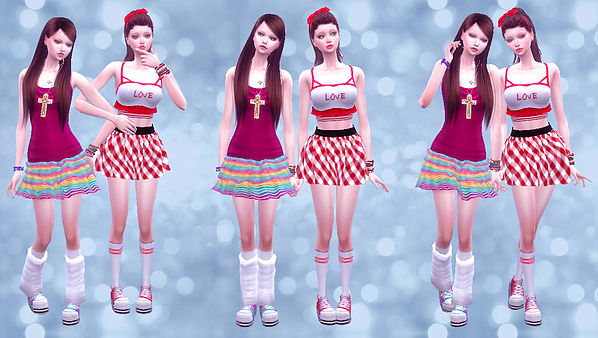 Twins poses 02 at A luckyday image 3231 Sims 4 Updates