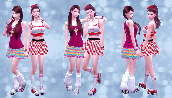 Twins poses 02 at A luckyday image 3241 Sims 4 Updates