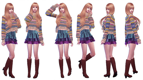 Twins poses 02 at A luckyday image 3251 Sims 4 Updates