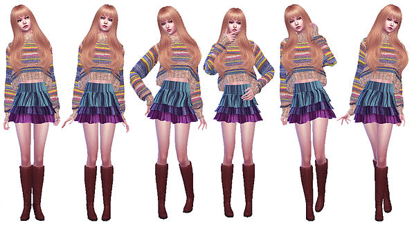Twins poses 02 at A luckyday image 3261 Sims 4 Updates