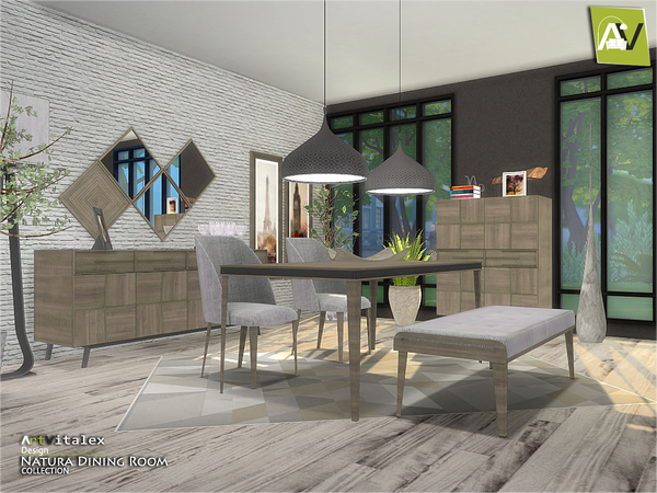 Natura Dining Room by ArtVitalex at TSR image 3310 Sims 4 Updates