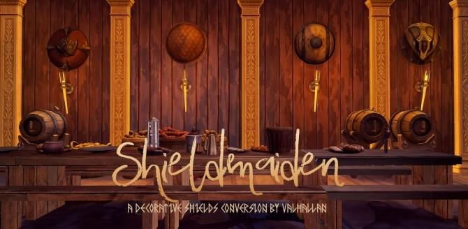 Shieldmaiden decorative shields conversion at Valhallan image 339 670x328 Sims 4 Updates